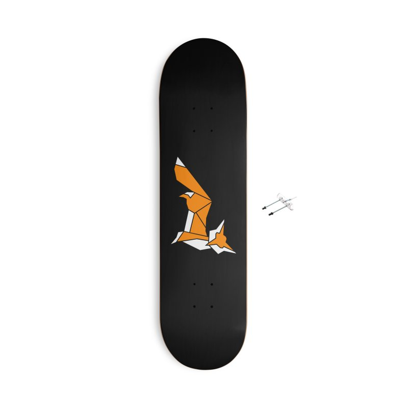 Little Fox origami Accessories With Hanging Hardware Skateboard by Synner Design