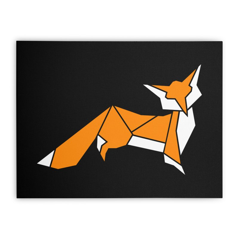 Little Fox origami Home Stretched Canvas by Synner Design