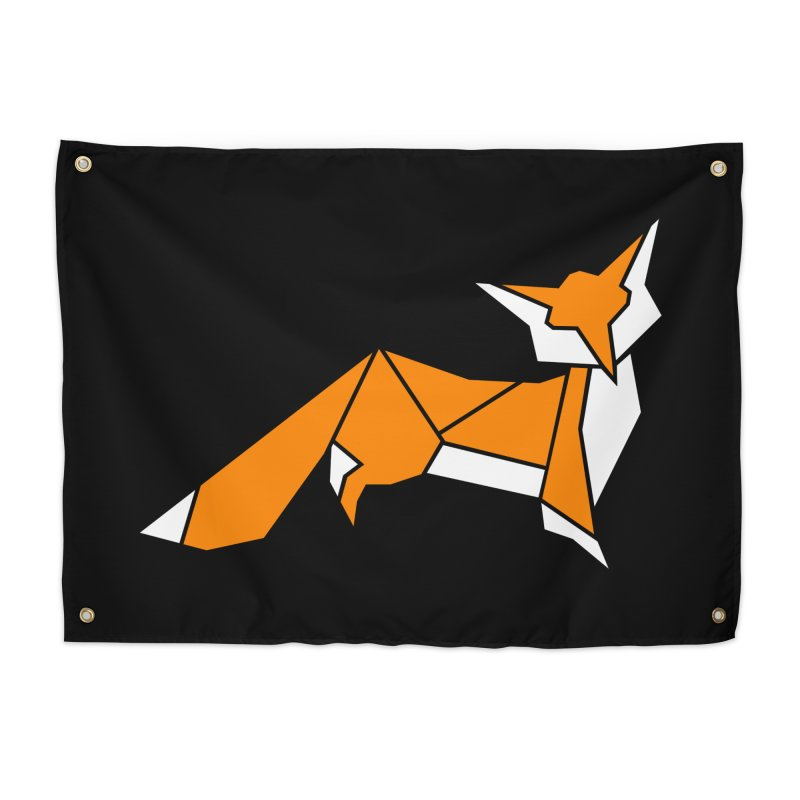 Little Fox origami Home Tapestry by Synner Design