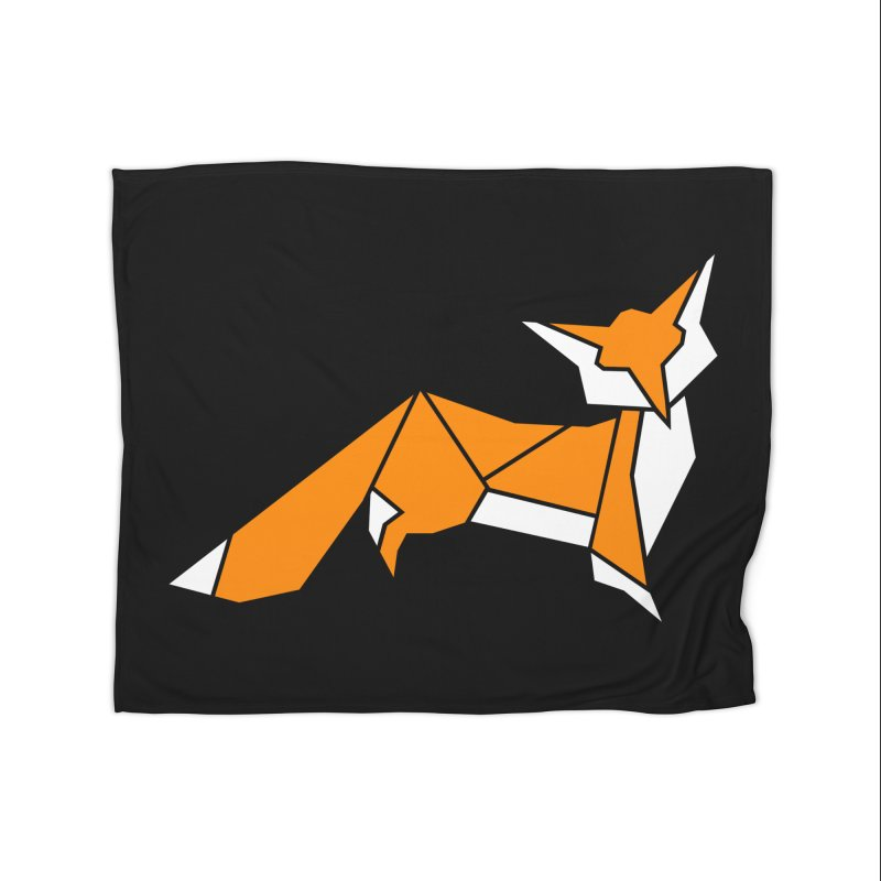 Little Fox origami Home Fleece Blanket Blanket by Synner Design