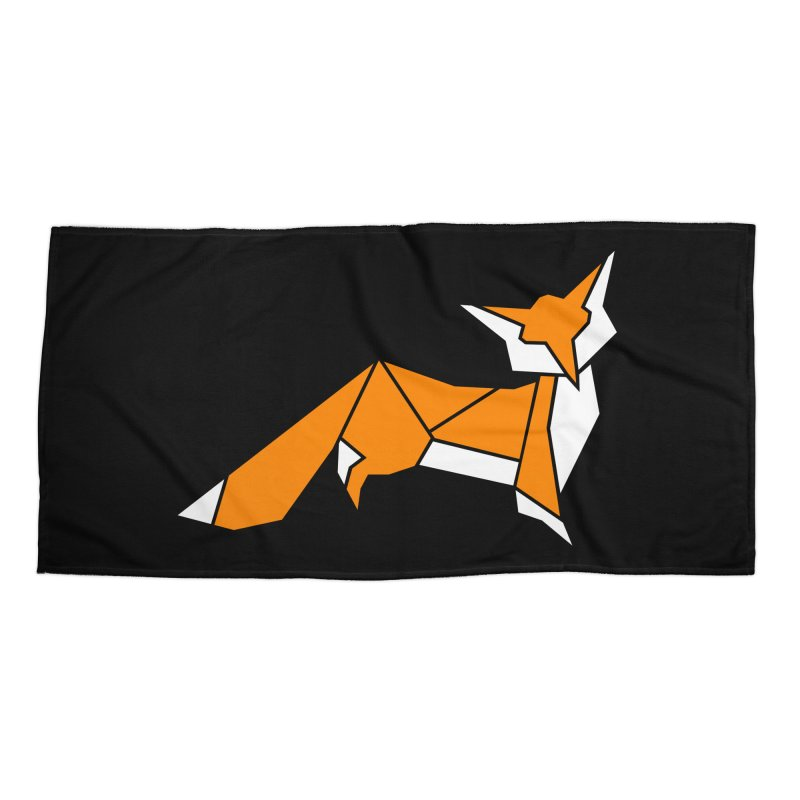Little Fox origami Accessories Beach Towel by Synner Design