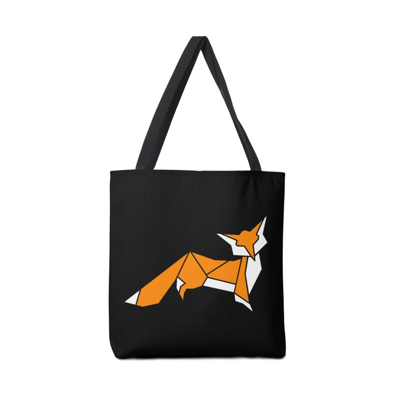 Little Fox origami Accessories Tote Bag Bag by Synner Design