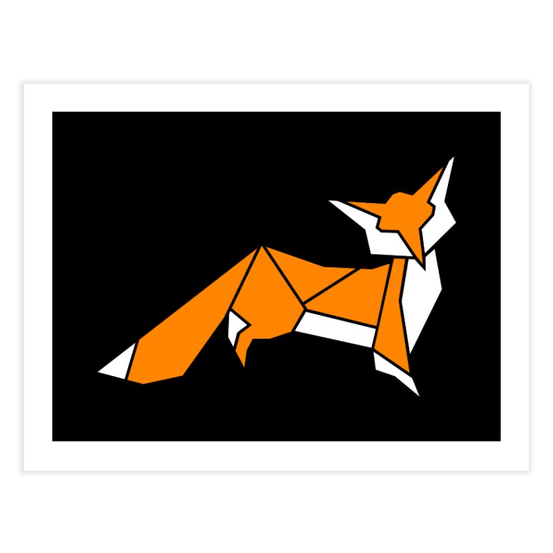 Little Fox origami Home Fine Art Print by Synner Design