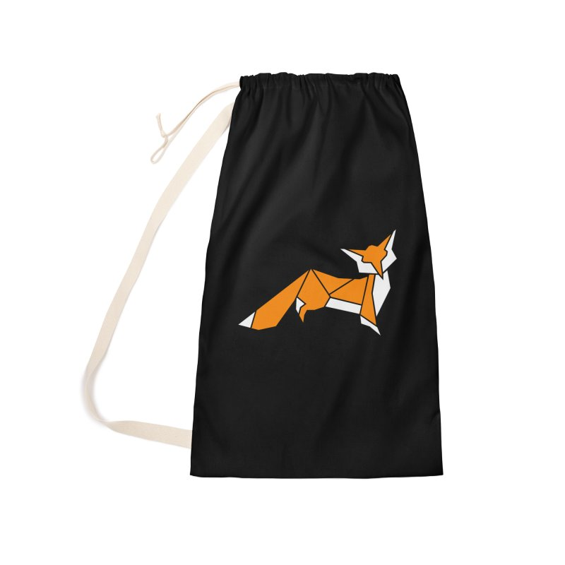 Little Fox origami Accessories Laundry Bag Bag by Synner Design