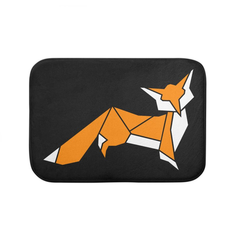Little Fox origami Home Bath Mat by Synner Design