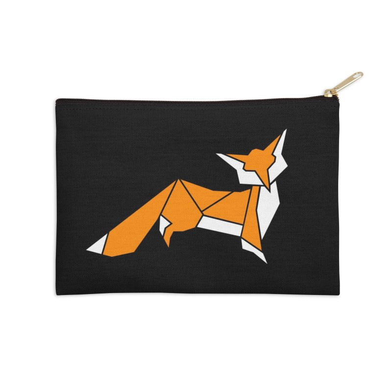Little Fox origami Accessories Zip Pouch by Synner Design