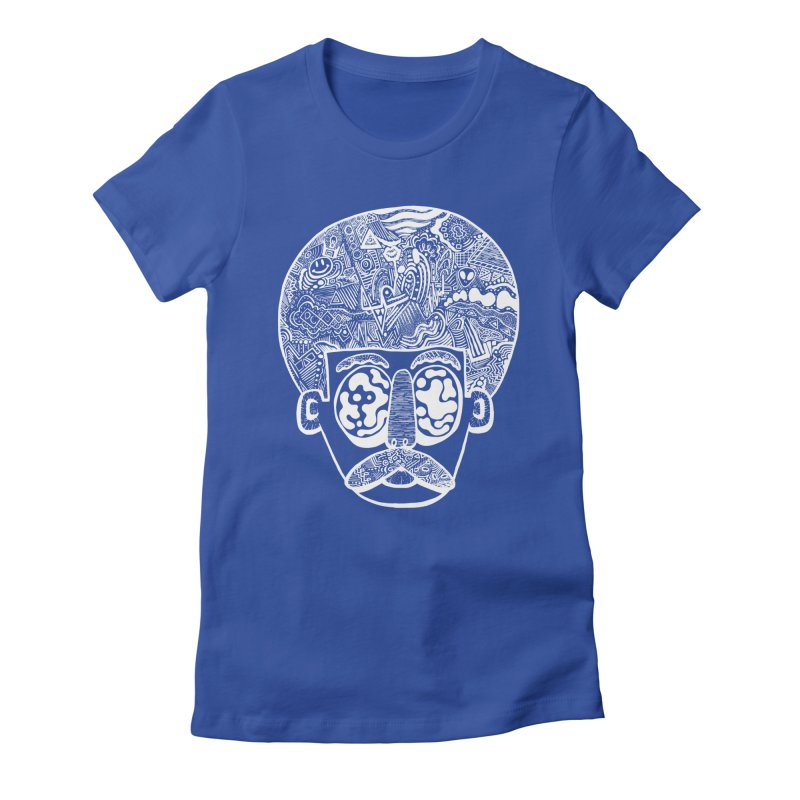 King Of The Afro Women's Fitted T-Shirt by danielcrichton's Artist Shop