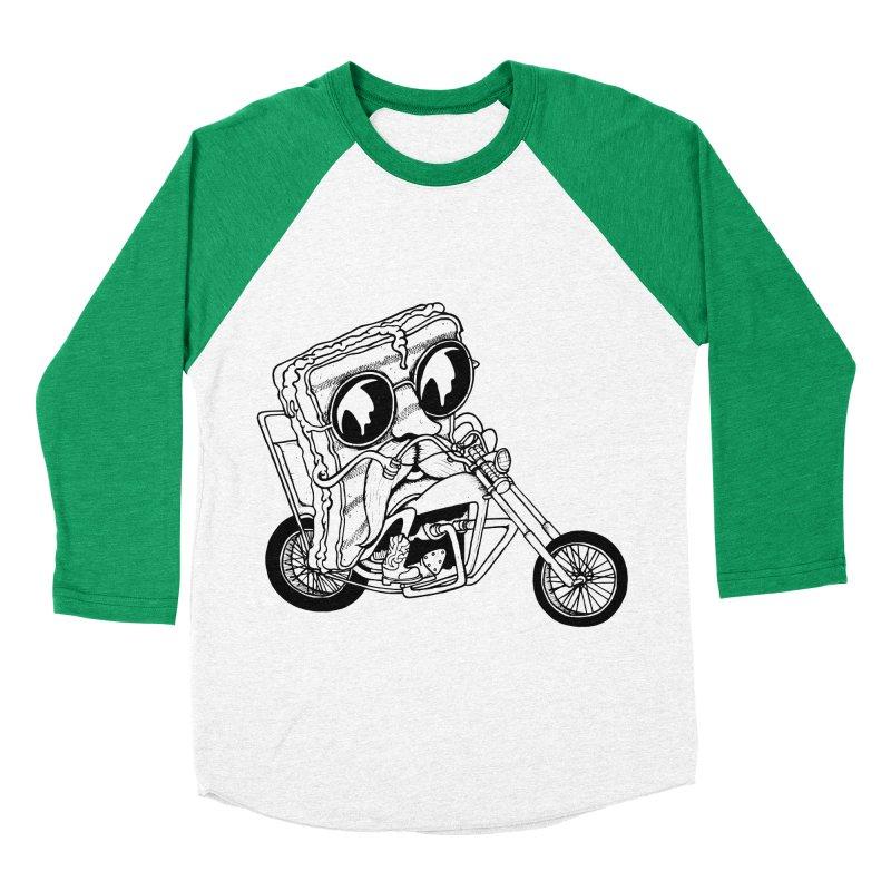 Cheesy Rider Men's Baseball Triblend T-Shirt by danielcrichton's Artist Shop