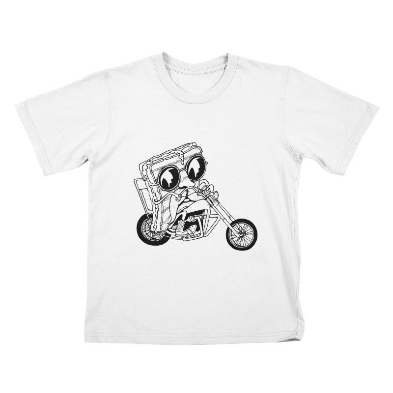 Cheesy Rider Kids T-shirt by danielcrichton's Artist Shop