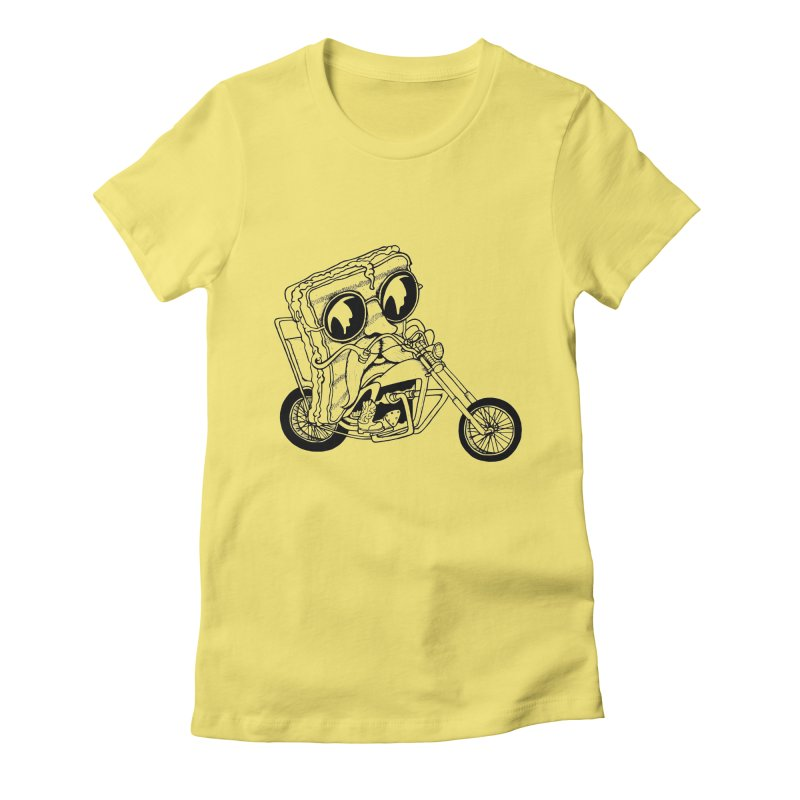 Cheesy Rider Women's Fitted T-Shirt by danielcrichton's Artist Shop