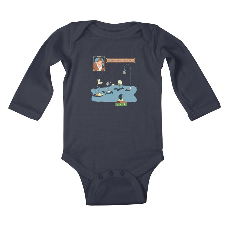 Old Lamps for New Kids Baby Longsleeve Bodysuit by Objects in Motion