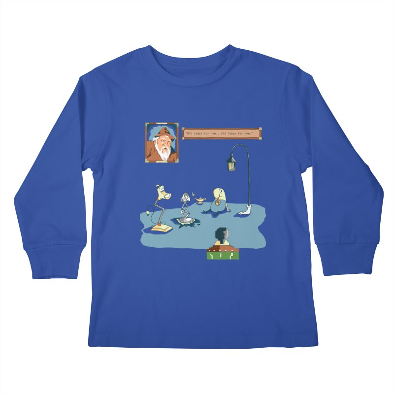 Old Lamps for New Kids Longsleeve T-Shirt by Objects in Motion