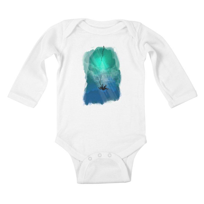 Down Below Kids Baby Longsleeve Bodysuit by Objects in Motion