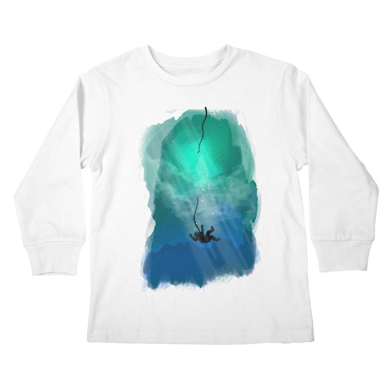 Down Below Kids Longsleeve T-Shirt by Objects in Motion