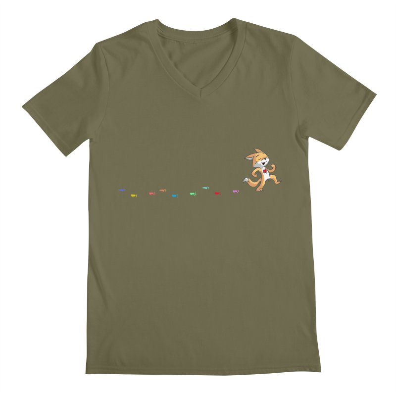 Keep Going Men's Regular V-Neck by Objects in Motion