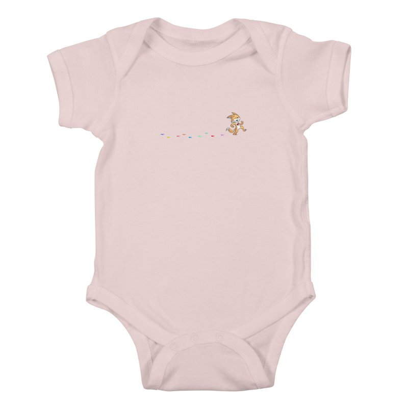 Keep Going Kids Baby Bodysuit by Objects in Motion