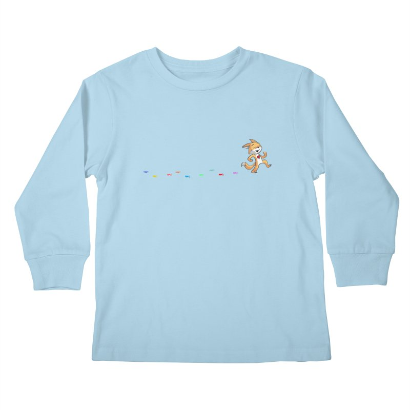 Keep Going Kids Longsleeve T-Shirt by Objects in Motion