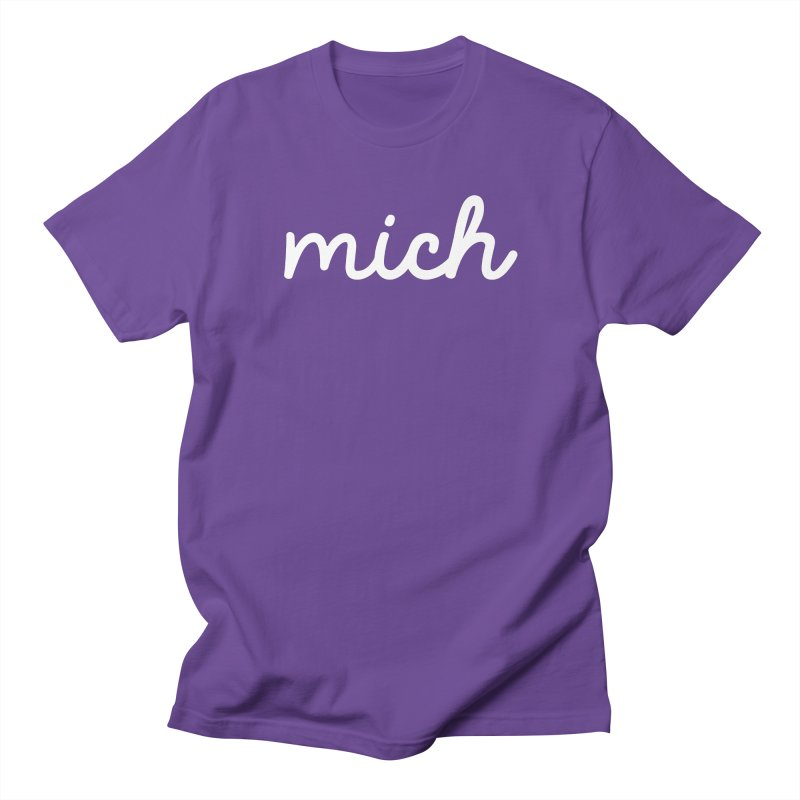 Mich (on dark) Men's T-Shirt by Daniel Montgomery's Artist Shop