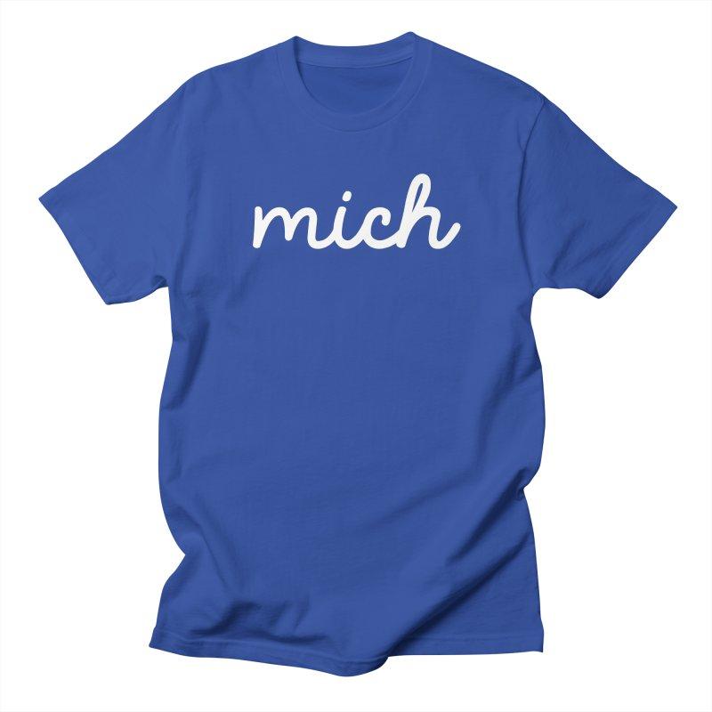 Mich (on dark) Men's T-Shirt by Daniel Montgomery's Artist Shop