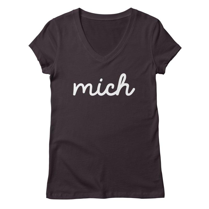 Mich (on dark) Women's Regular V-Neck by Daniel Montgomery's Artist Shop