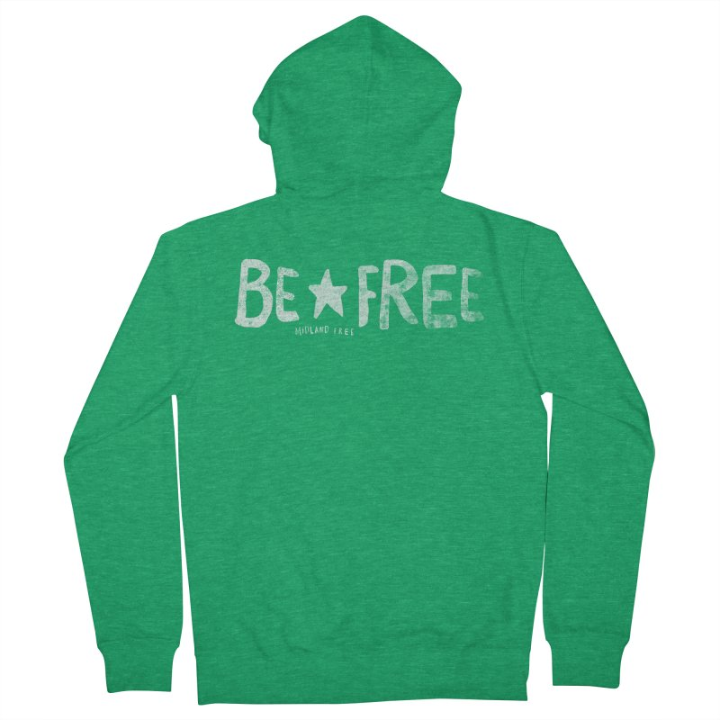BE*FREE Men's French Terry Zip-Up Hoody by Daniel Montgomery's Artist Shop