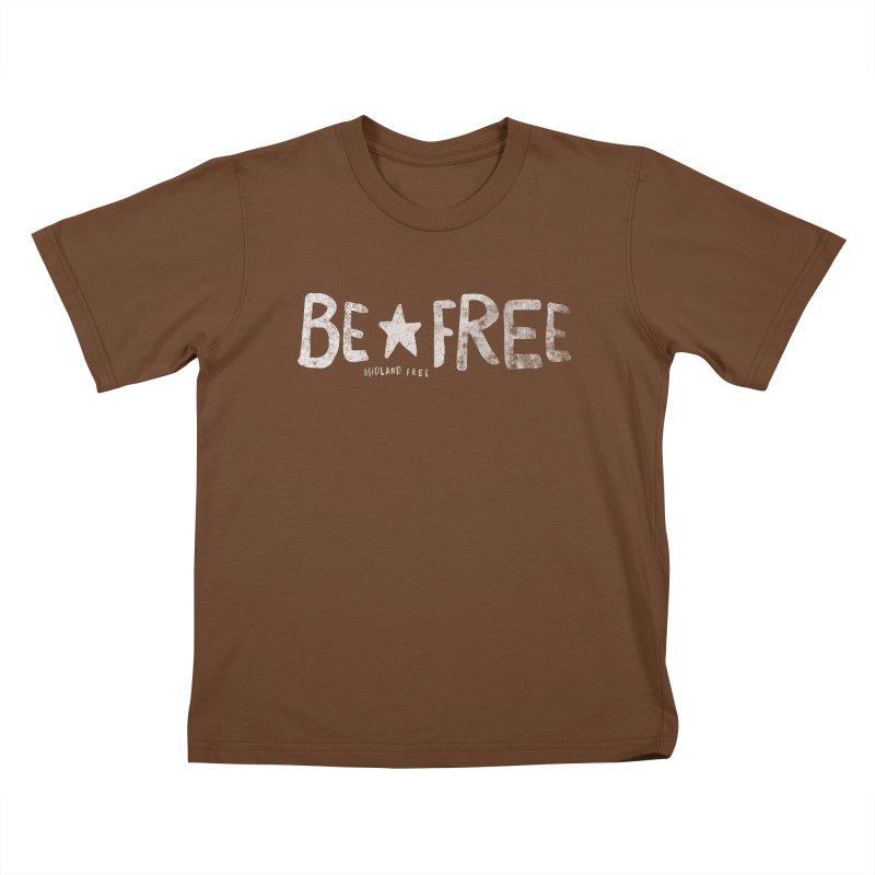 BE*FREE Kids T-Shirt by Daniel Montgomery's Artist Shop