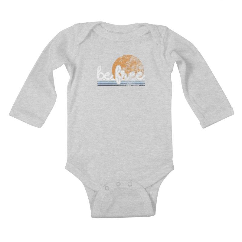 be free sunset Kids Baby Longsleeve Bodysuit by Daniel Montgomery's Artist Shop