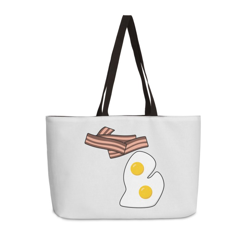 Michigan Breakfast Accessories Weekender Bag Bag by Daniel Montgomery's Artist Shop