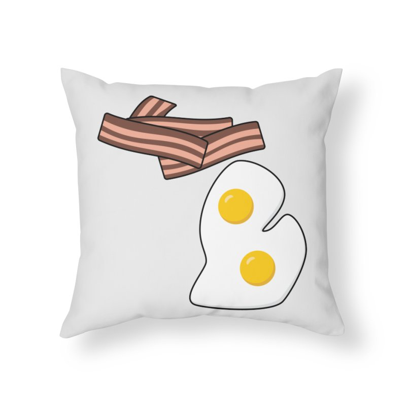 Michigan Breakfast Home Throw Pillow by Daniel Montgomery's Artist Shop