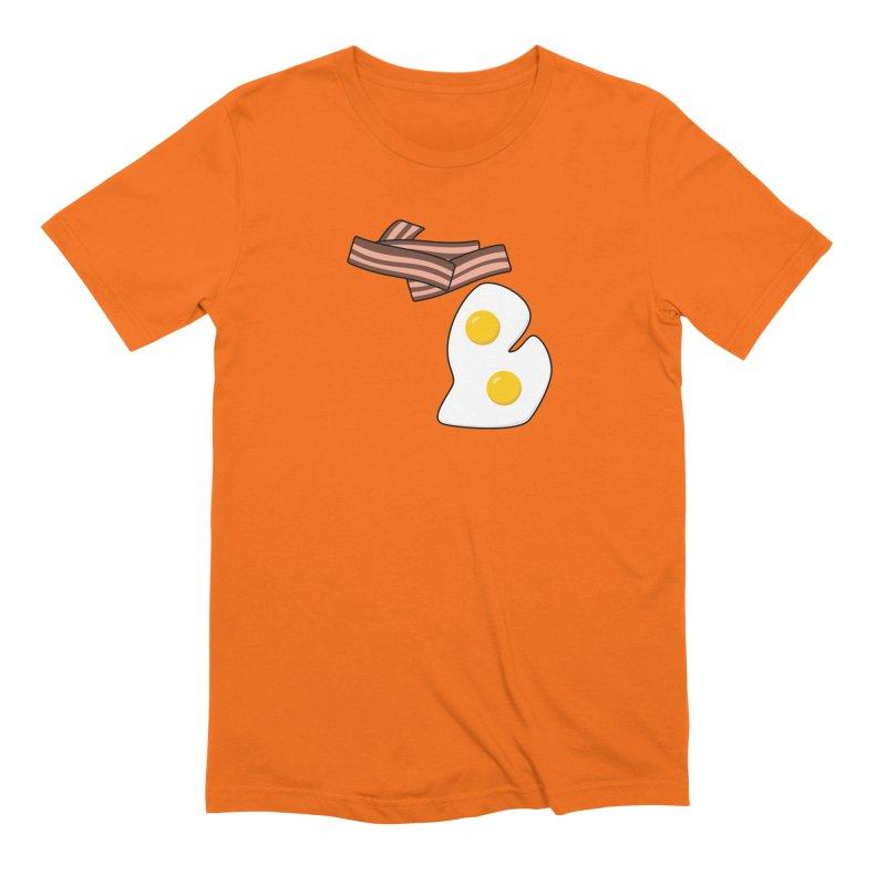 Michigan Breakfast Men's T-Shirt by Daniel Montgomery's Artist Shop
