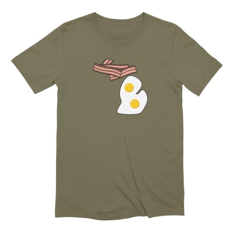 Michigan Breakfast Men's Extra Soft T-Shirt by Daniel Montgomery's Artist Shop