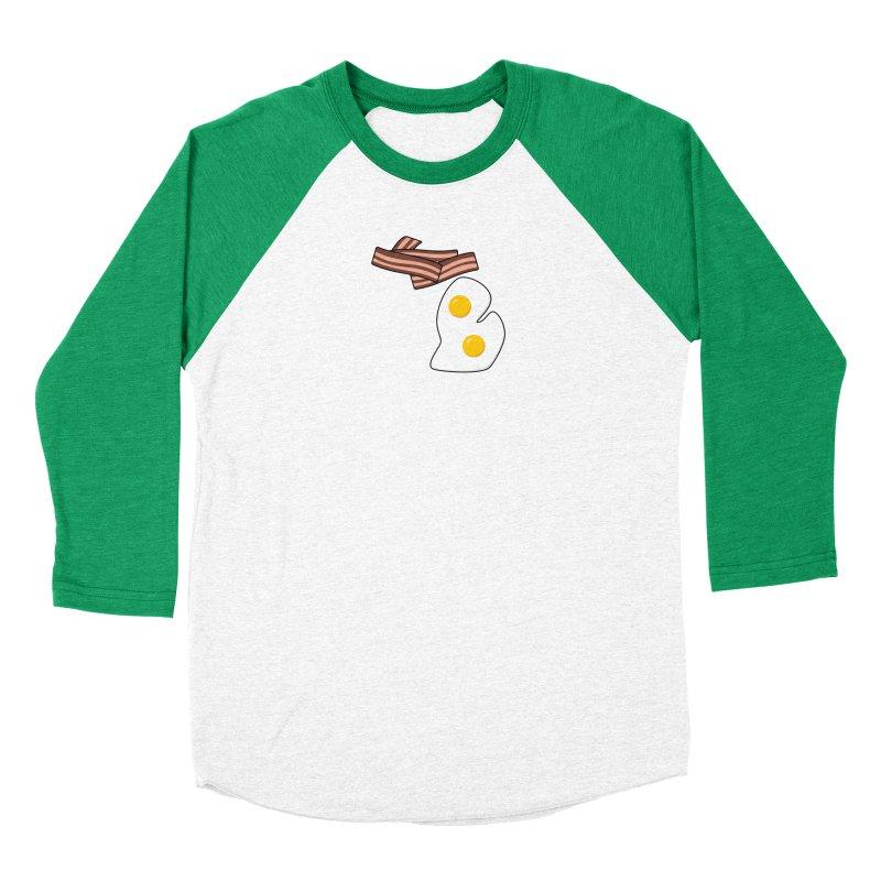 Michigan Breakfast Women's Baseball Triblend Longsleeve T-Shirt by Daniel Montgomery's Artist Shop