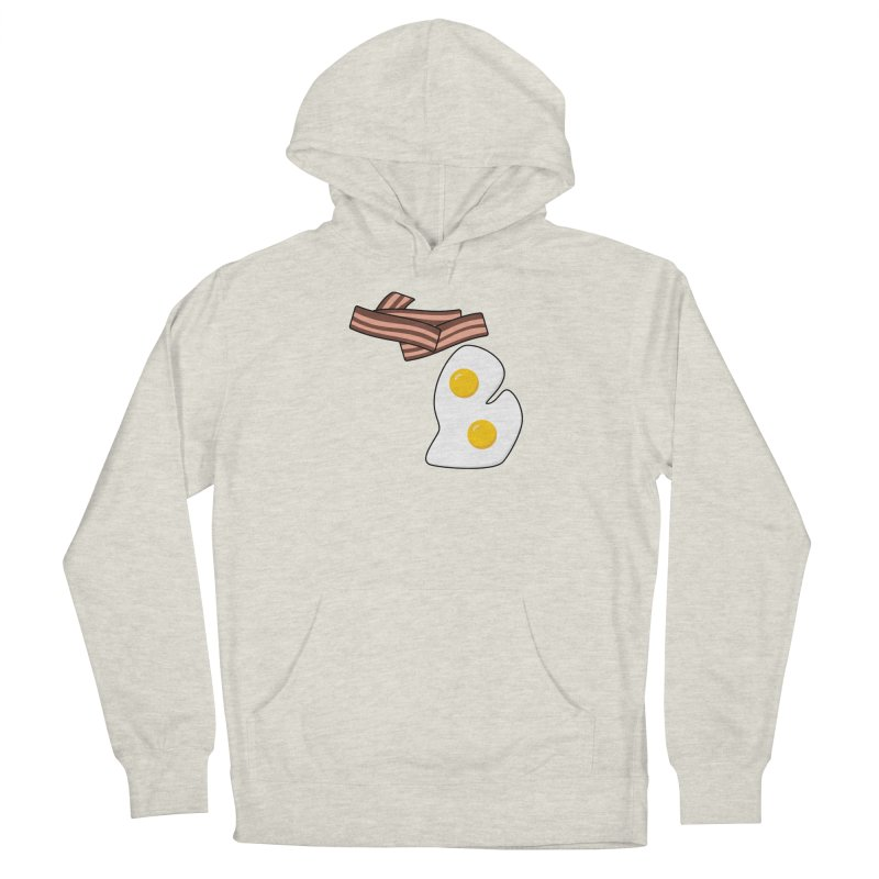 Michigan Breakfast Men's French Terry Pullover Hoody by Daniel Montgomery's Artist Shop