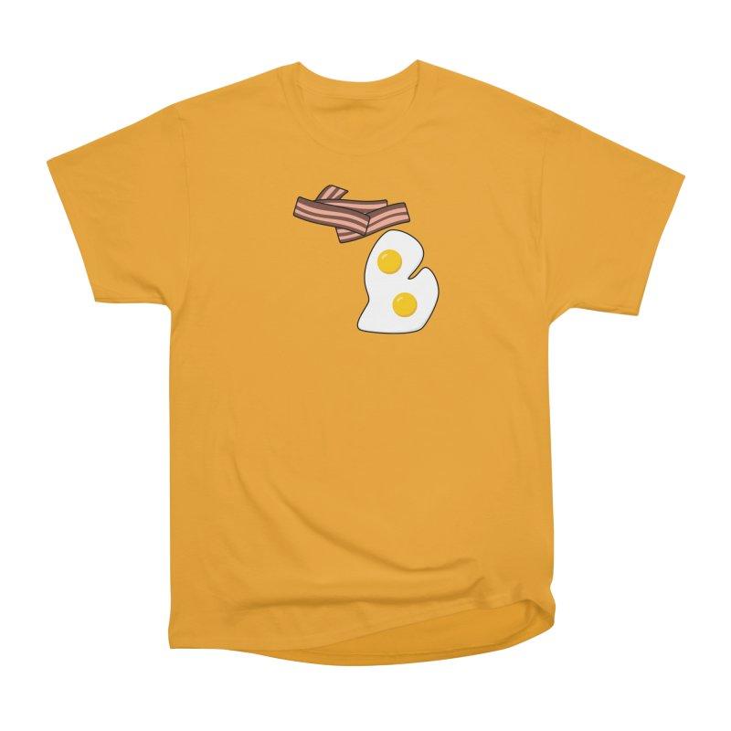 Michigan Breakfast Men's Heavyweight T-Shirt by Daniel Montgomery's Artist Shop