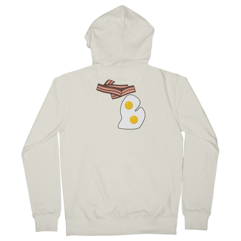 Michigan Breakfast Men's French Terry Zip-Up Hoody by Daniel Montgomery's Artist Shop