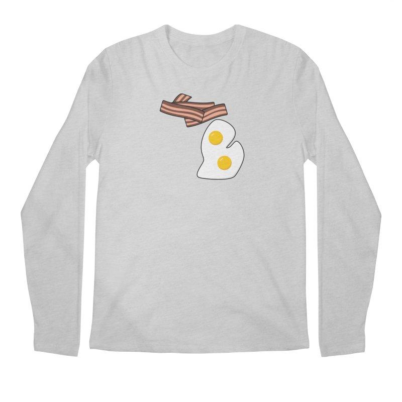 Michigan Breakfast Men's Regular Longsleeve T-Shirt by Daniel Montgomery's Artist Shop