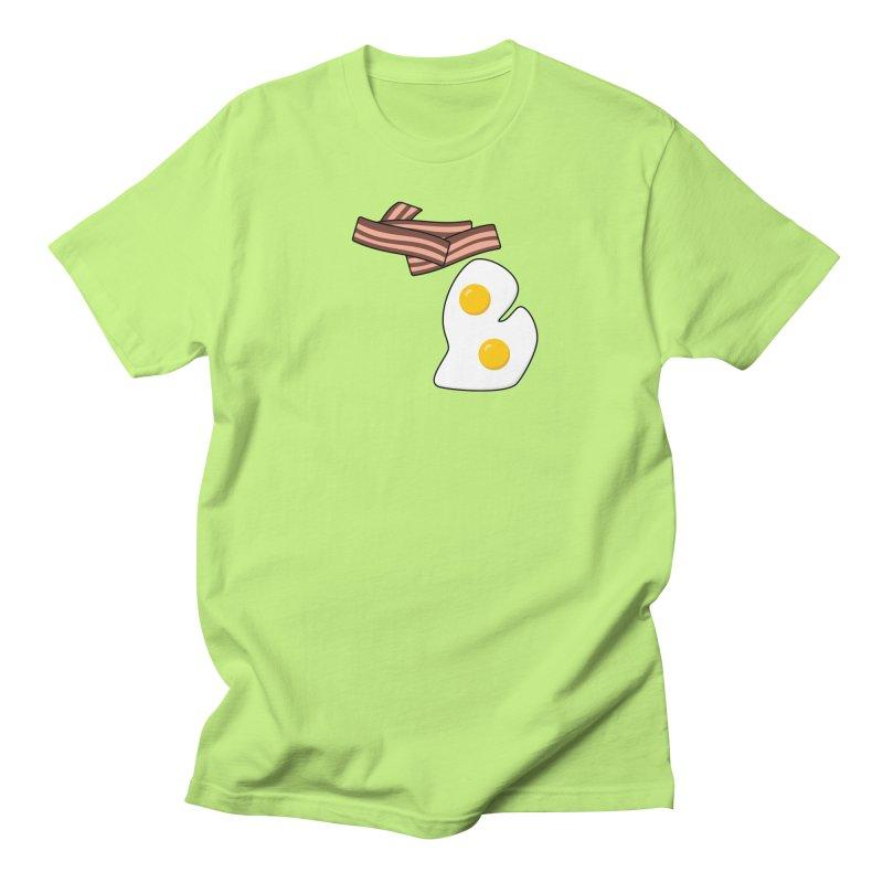 Michigan Breakfast Women's Regular Unisex T-Shirt by Daniel Montgomery's Artist Shop