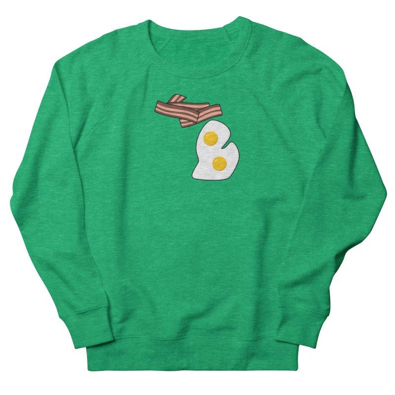 Michigan Breakfast Women's French Terry Sweatshirt by Daniel Montgomery's Artist Shop
