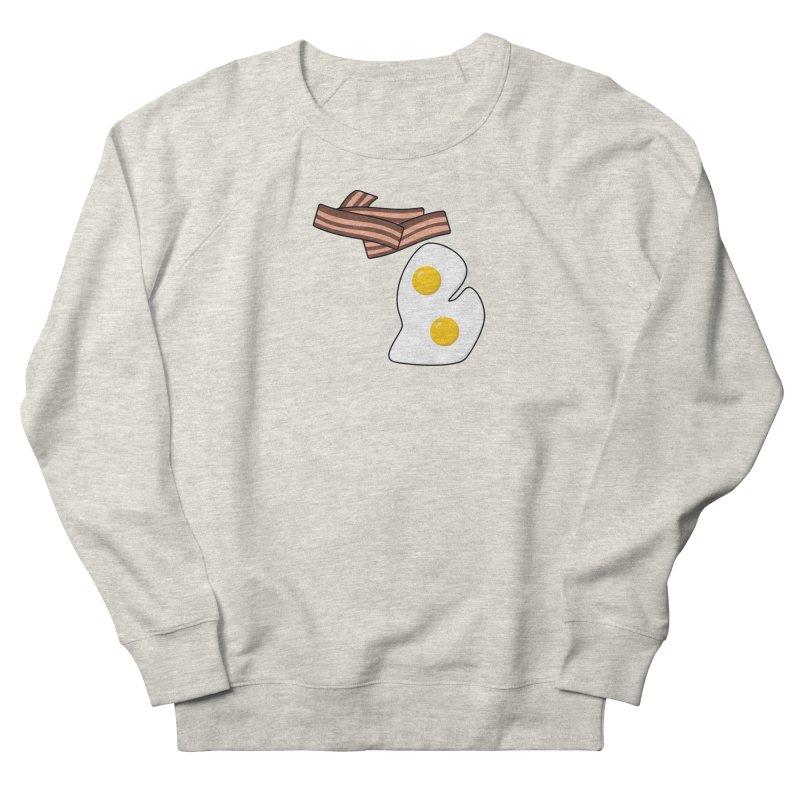 Michigan Breakfast Men's French Terry Sweatshirt by Daniel Montgomery's Artist Shop