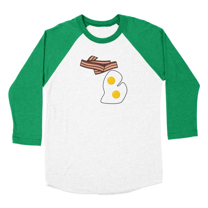Michigan Breakfast Men's Baseball Triblend Longsleeve T-Shirt by Daniel Montgomery's Artist Shop