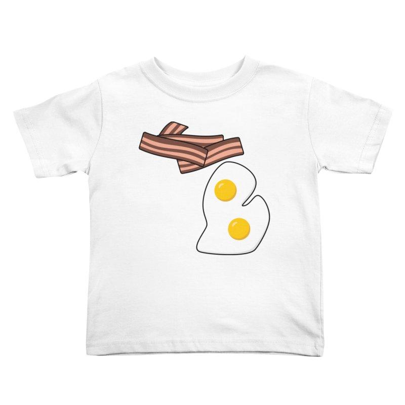Michigan Breakfast Kids Toddler T-Shirt by Daniel Montgomery's Artist Shop