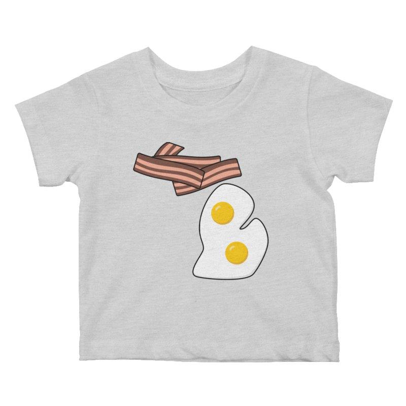 Michigan Breakfast Kids Baby T-Shirt by Daniel Montgomery's Artist Shop