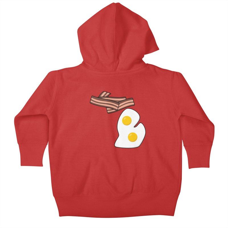 Michigan Breakfast Kids Baby Zip-Up Hoody by Daniel Montgomery's Artist Shop