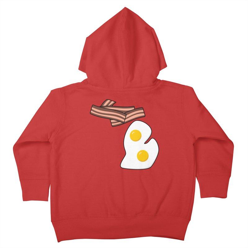 Michigan Breakfast Kids Toddler Zip-Up Hoody by Daniel Montgomery's Artist Shop