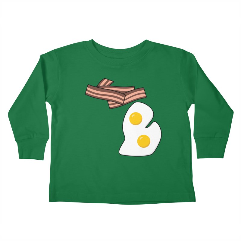 Michigan Breakfast Kids Toddler Longsleeve T-Shirt by Daniel Montgomery's Artist Shop