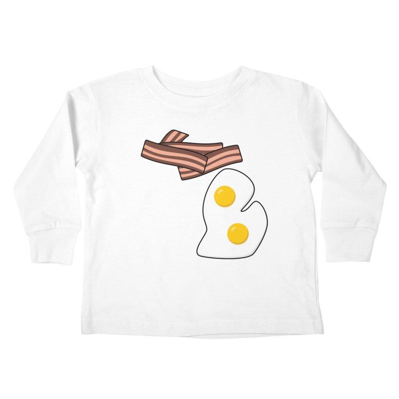 Michigan Breakfast Kids Toddler Longsleeve T-Shirt by Daniel Montgomery's Artist Shop