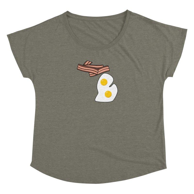 Michigan Breakfast Women's Dolman Scoop Neck by Daniel Montgomery's Artist Shop