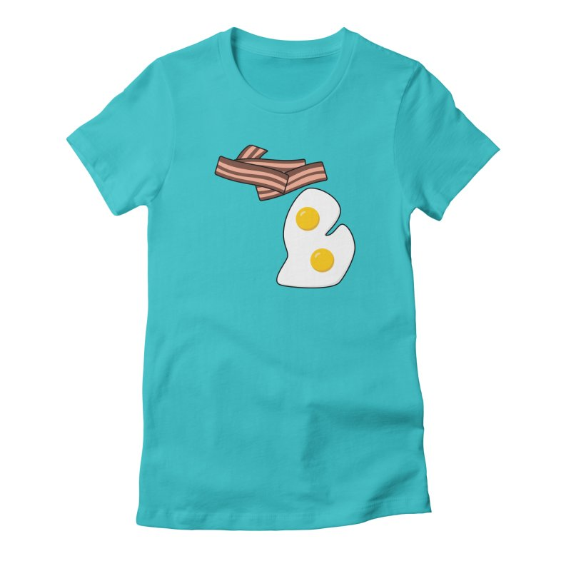 Michigan Breakfast Women's Fitted T-Shirt by Daniel Montgomery's Artist Shop