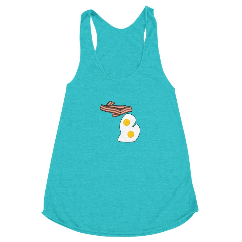 Michigan Breakfast Women's Racerback Triblend Tank by Daniel Montgomery's Artist Shop