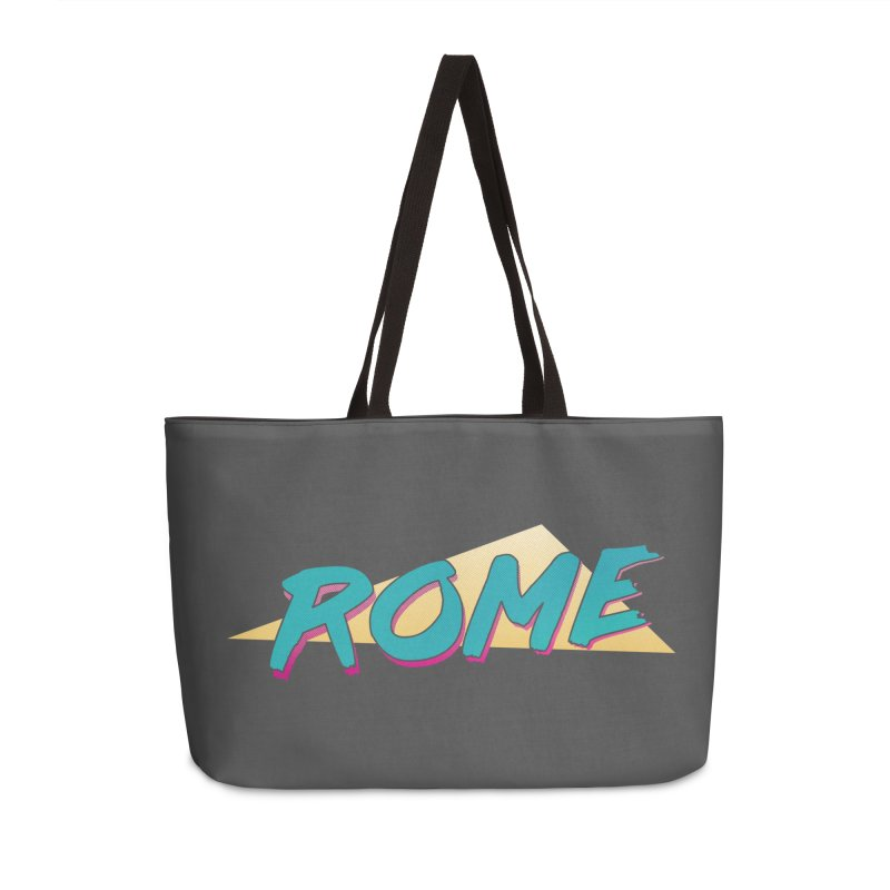 Rome Wasn't 80'd in a Day Accessories Weekender Bag Bag by Daniel Montgomery's Artist Shop